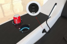 Cup holder and USB port for Palm Beach