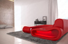 Modern Sectional Sofa Concept L Short with LED lights - red