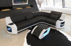 elegant design sofa Columbia in black - white