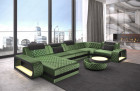 modern fabric couch Berlin velvet quilted - light green Sun Velvet 1026