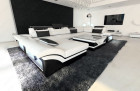 modern sofa atlanta in white-black