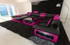 luxury sofa atlanta xxl black-pink