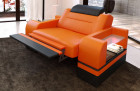Designer armchair Orlando with lighting in orange-black