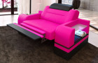 Television armchair Orlando LED in pink-black