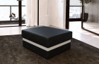Optional leather upholstered stool