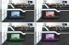 LED lighting from sofa Manhattan U