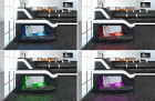 LED lighting in many colours