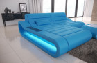 Luxury Sectional Sofa Concept L Short with LED lights - blue