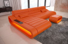 Modern Sectional Sofa Concept L Short with LED lights - orange