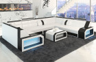 modern sectional sofa San Jose white-black