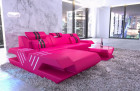 Designer sofa with Ottoman and lighting luxury - pink