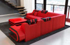Design Corner Couch San Antonio L Shape in red-black