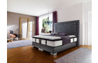 Luxury box spring bed Palace hotel bed in grey