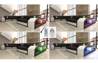 sectional sofa boston with LED lights