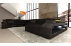 Sectional Fabric Sofa Houston XL black - Hugo 14