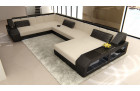 Desifn fabric sofa Houston with LED beige - Mineva 1
