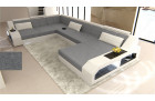 Desifn fabric sofa Houston with LED lightgrey - Hugo 5