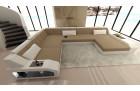 Desifn fabric sofa Houston with LED sandbeige - Mineva 9