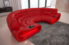 Modern Sectional Sofa Concept U with LED lights - red