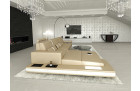 sectional corner sofa beige white leather
