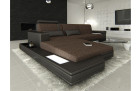 Luxury Fabric Sofa Los Angeles L Shape darkbrown- Hugo 8