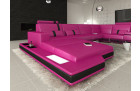 Design U Shaped Sofa Los Angeles pink-black