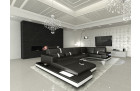 Design U Shaped Sofa Los Angeles black-white