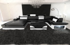 Luxury Sofa Orlando with LED black-white