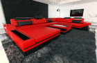 luxury sofa orlando with LED Lights red-black