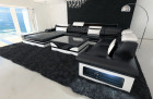luxury sofa orlando with LED Lights black-whote