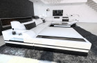 Design Sectional Sofa Orlando XL with LED Lights white-black