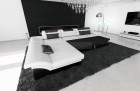 Modern Corner Sofa Chicago LED L- Shaped with optional sofa bed