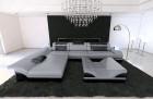 Modern Corner Sofa Chicago LED L- Shaped grey-black