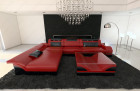 Modern Corner Sofa Chicago LED L- Shaped red-black
