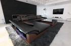 luxury sofa chicago L Shape black-darkbrown