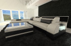 Design Corner Sofa Chicago with LED Lights ivory - Hugo 1