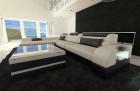 Design Corner Sofa Chicago with LED Lights ivory - Hugo 1