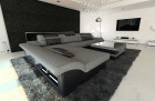 Design Corner Sofa Chicago with LED Lights lightgrey - Hugo 5