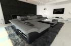 Design Corner Sofa Chicago with LED Lights lightgrey - Hugo 5