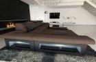 Fabric Sofa Chicago L Shape LED brown - Hugo 8