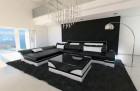 Design Corner Sofa Chicago with LED black-white