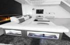 Design Corner Sofa Chicago with LED white-grey