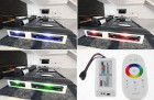 LED RGB lights with touch wheel remote