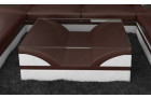 Design Coffee Table Chicago darkbrown-white