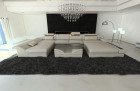 Fabric Sectional Sofa Chicago LED ivory - Hugo 1