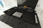 Modern Fabric Sofa Chicago U Shaped black- Hugo 14