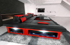 Big Sectional Sofa Chicago LED black-red