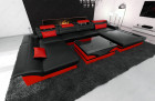 Design sofa Chicago U Shape black-red