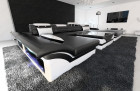 Big Sectional Sofa Chicago LED black-white