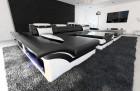 Big Sectional Sofa Chicago LED black-white